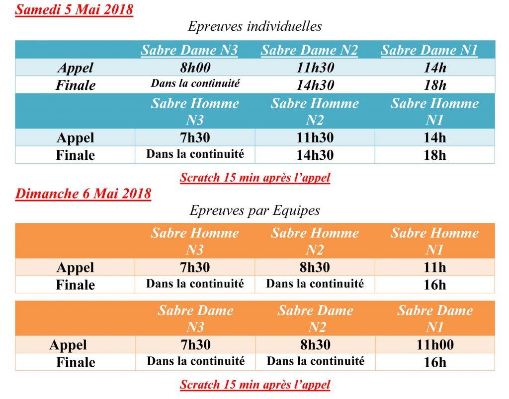 programme championnat france escrime sabre 2018 charleville
